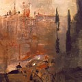 Siege Of A Castle 1910 by Gulacsy Lajos