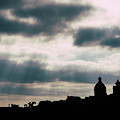 Silhouette Of National Pantheon In Lisbon, Portugal by Alexandre Rotenberg