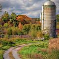 Silo In Autumn In Bradford, Vermont by Kristen Wilkinson