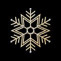 Silver And Gold Snowflake 1 At Midnight by Rose Santuci-Sofranko