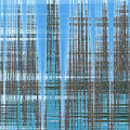 Silver Blue Plaid Abstract #3 by Patti Deters