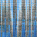Silver Blue Plaid Abstract #4 by Patti Deters