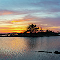 Sinepuxent Bay Sunset  by Michael Ver Sprill