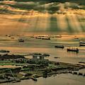 Singapore Harbour by Chris Cousins