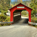 Single Lane Chiselville Covered Bridge by Adam Jewell