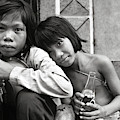 Sisters From Cambodia In Saigon by Silva Wischeropp