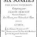 Six Sonatas  Score Cover By Claude Debussy by European School