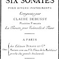 Six Sonatas  Score Cover By Claude Debussy by Unknown