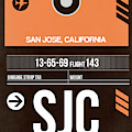 Sjc San Jose Luggage Tag II by Naxart Studio