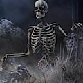 Skeleton In A Graveyard by Daniel Eskridge
