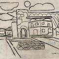 Sketch Of Arch Laguna Del Sol by Suzanne Cerny