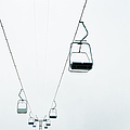 Ski Lifts, Low Angle View by Mecky