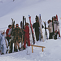 Skiers At Gstaad by Slim Aarons