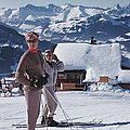 Skiers In Gstaad by Slim Aarons