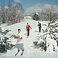 Skiing Waiters by Slim Aarons