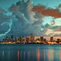 Skyline Miami, Usa by Dean Wittle