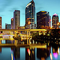 Skyline View Of Tampa Florida At Dawn by Gregory Ballos