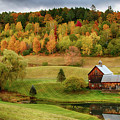 Sleepy Hollow Barn In Autumn by Jeff Folger