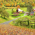 Sleepy Hollow Farm In Autumn by Rod Best
