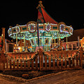 Smithville Carousel At Night by Kristia Adams