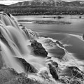 Snake River Fall Creek Falls Black And White by Adam Jewell
