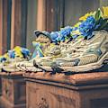Sneakers With Flowers - Boston Marathon by Joann Vitali