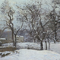 Snow At Louveciennes by Camille Pissarro