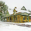Snow At Wenonah Station by Nick Zelinsky