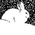 Snow Bunny Rabbit Holiday Winter by Tony Rubino