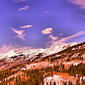 Snow Covered Mountains by Jeff Swan
