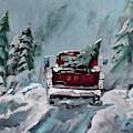 Dashing Thru The Snow - Ford Truck by Jan Dappen
