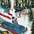Snowbird Lift Study by Lynne Bolwell