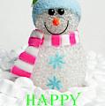 Snowman - Happy Christmas by Helen Northcott