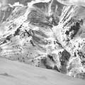 Snowmass Mountain Peaks Black And White by Adam Jewell