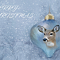 Snowy Deer Ornament Christmas Image by Sandi OReilly