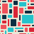 Soft Geometric Pattern In Retro by Vector Fx