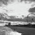 South Carolina Coastline - Myrtle Beach Bw by Andrea Anderegg