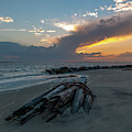 Southern Sunset Skies Over Sullivan's Island Sc  by Dale Powell
