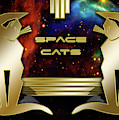 Space Cats - Gold by Chuck Staley