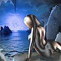 Space Fantasy Goddess Galaxy Ice Worlds Multimedia Digital Artwork by G Linsenmayer