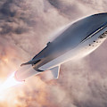 Spacex Bfr Epic Launch by Filip Hellman