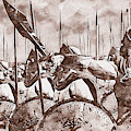 Spartan Army At War - 34  by Andrea Mazzocchetti