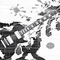 Splatter Guitar by Bigalbaloo Stock