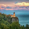 Split Rock Lighthouse At Sunset by Susan Rissi Tregoning