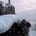 Split Rock Lighthouse Winter by James Peterson