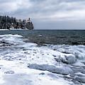 Split Rock On Ice by Susan Rissi Tregoning