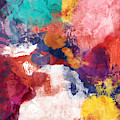 Spring Crush 3- Abstract Art By Linda Woods by Linda Woods