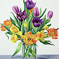 Spring Flowers Watercolor by Christopher Ryland