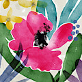 Spring Garden Pink- Floral Art By Linda Woods by Linda Woods