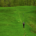 Spring Green Hiker On The Vt At by Raymond Salani III
